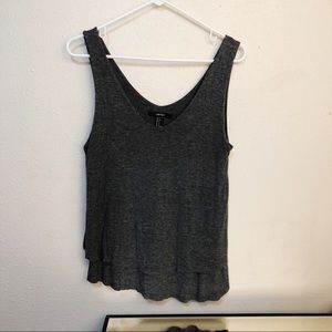 2 for $20 Forever 21 Gray Layered Tank Sz S